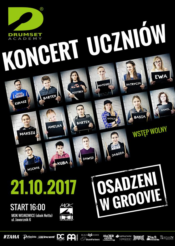 koncert uczniów szkoły perkusyjnej DrumsetAcademy2017
