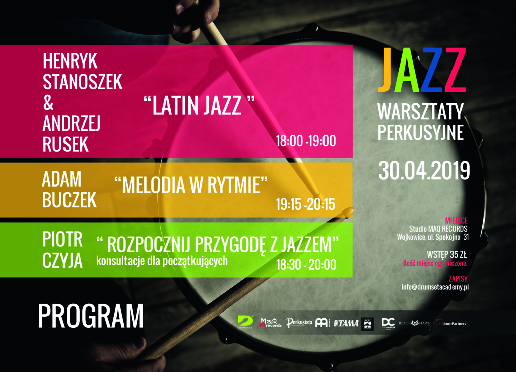 Warsztaty perkusyjne jazz 2019